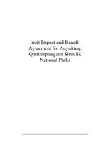 IIBA for Auyuittuq, Quttinirpaaq and Sirmilik National Parks