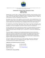 Job Posting – Administrative Assistant Project Management Trainee – April-4-2017 – English