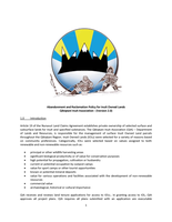 Abandonment and Reclamation Policy for Inuit Owned Lands