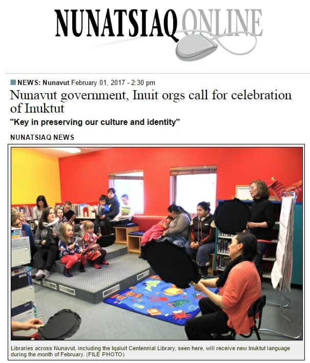 Nunatsiaq News – Nunavut government, Inuit orgs call for celebration of Inuktut