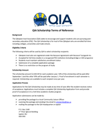 QIA Scholarship Terms of Reference