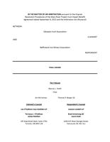 QIA v Baffinland Arbitration Award 30 6 17