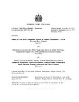 Supreme Court Judgment – Clyde River (Hamlet) v. Petroleum Geo‑Services Inc