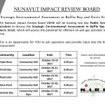 NIRB consultations on the Strategic Environmental Assessment in Baffin Bay and Davis Strait