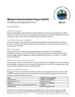 QCAP – 2019 07 Guidelines and Application