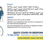 Public Service Announcement: QIA's Emergency Grocery Vouchers for Elders